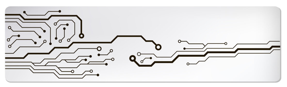 circuit techno banner. vector illustration