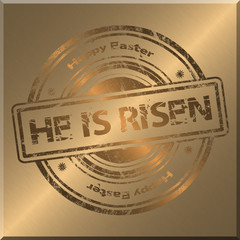 He is risen Gold Background