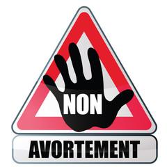 panneau : non à l'avortement