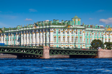 View of St. Petersburg. Winter Palace from Neva