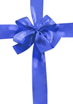 ruban bleu emballage cadeau