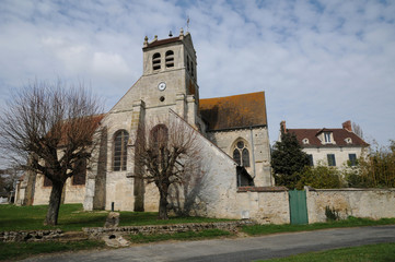 France, the old church of Wy dit Joli Village