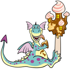 dragon with ice cream