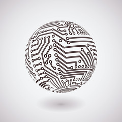 Vector circuit board sphere