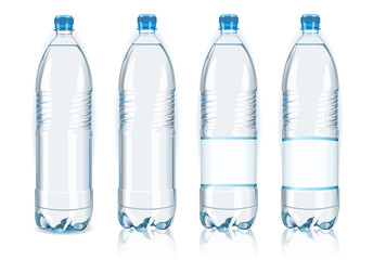 Bottle Water Vector Plastic Isolated