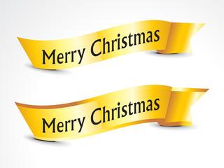 abstract golden christmas ribbons