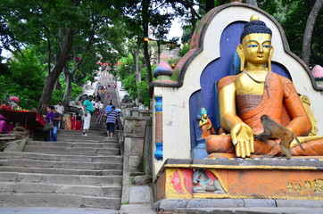 Statue à Katmandu