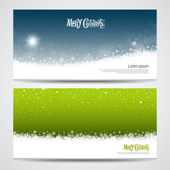 Abstract Merry Christmas snowflake background  set