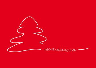 frohe weihnachten gemalt