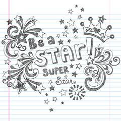 Princess Tiara Be a Super Star Sketchy Doodles Vector