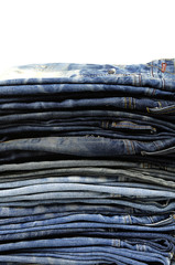 jeans pile background