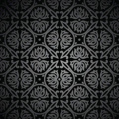 Black vintage wallpaper