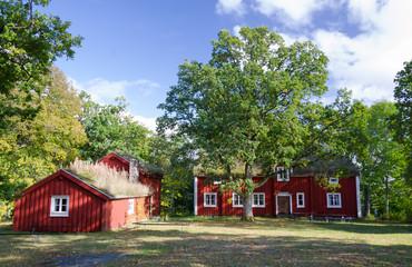 Old characteristic Swedish houses