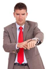 impatient business man
