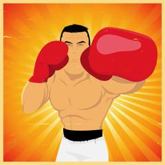 Left Jab - Grunge Champion Boxer