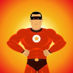 Aluminium Prints Superheroes Comic-like Super-Hero