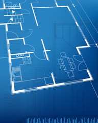 Architectural background. Vector illustration