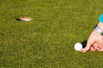 Marking golfball