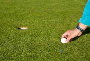 Placing Golfball