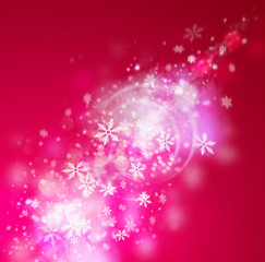 Beautiful abstract snowflake Christmas background