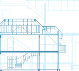 building background. plan of the house. EPS10
