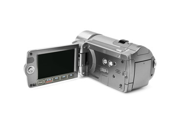 high-definition camera isolated on white background