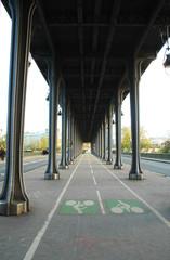 Pont de Bir-Hakeim, vecchio Pont di Passy, Parigi, Francia