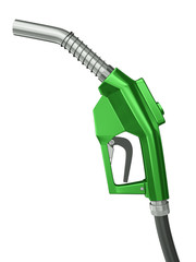 Green fuel nozzle, 3D render