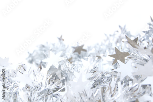 Collection christmas garland silver pictures