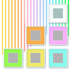 colorful photo frames on vintage style background