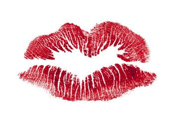 Bacio su fondo bianco
