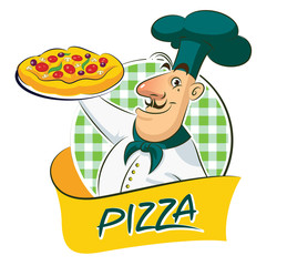 Wall Mural - cook pizza
