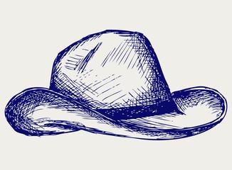 Cowboy hat. Doodle style