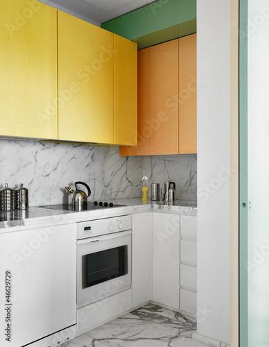 Cucina moderna con pensili colorati immagini e for Abbonamento a cucina moderna