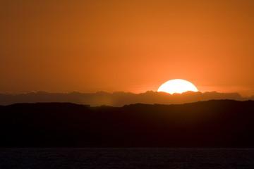 Sunrise sailing the coast of Victoria, Australia