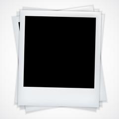 Polaroid vector realistic photo frame