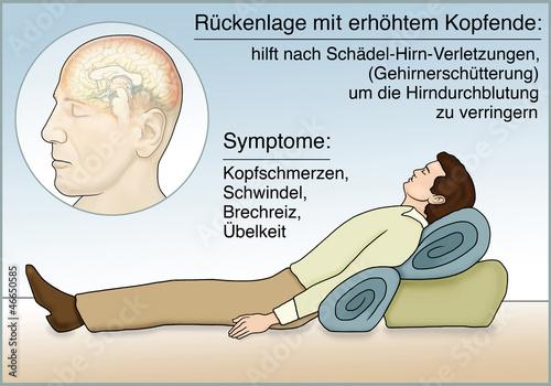 Erste Hilfe bei Gehirnerschütterung\