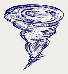 Tornado. Doodle style