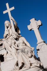 cimetière scultpture croix
