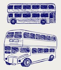 London city bus. Doodle style