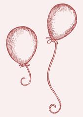 Illustration balloon. Doodle style
