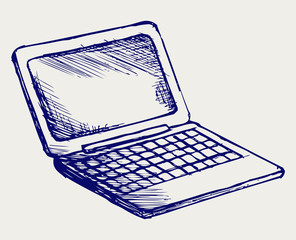 Netbook. Doodle style