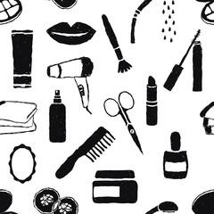 seamless doodle cosmetics pattern