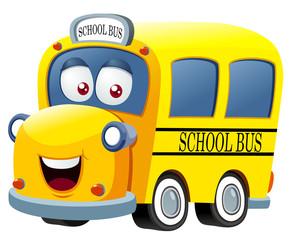 illustration of School bus cartoon vector