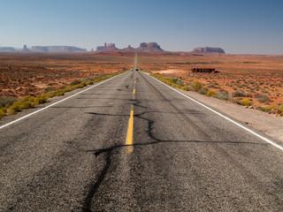 Route de Monument Valley - à perte de vue