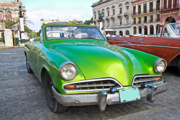 Wall Murals Cars from Cuba Classic citroen in Havana.