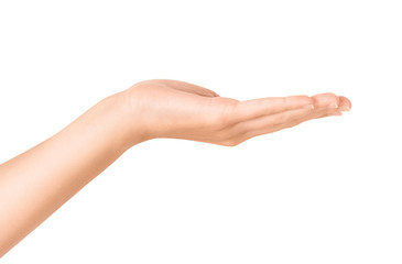 Open hand gesture