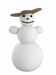 Snowman with the hat