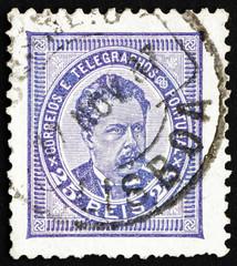 Postage stamp Portugal 1887 King Luiz, King of Portugal