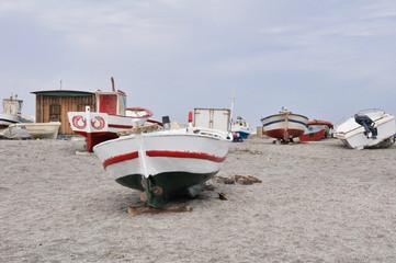 Fishing Boats at San Miguel beach, Gata cape, Andalusia (Spain)